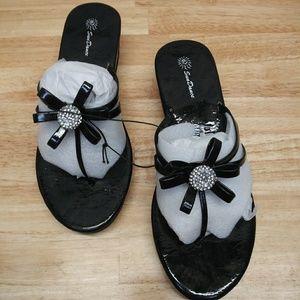 SunDance Women's Thong Wedge Sandals